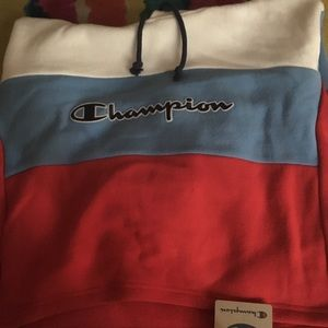 COPY - Champion cropped colorblock hoodie